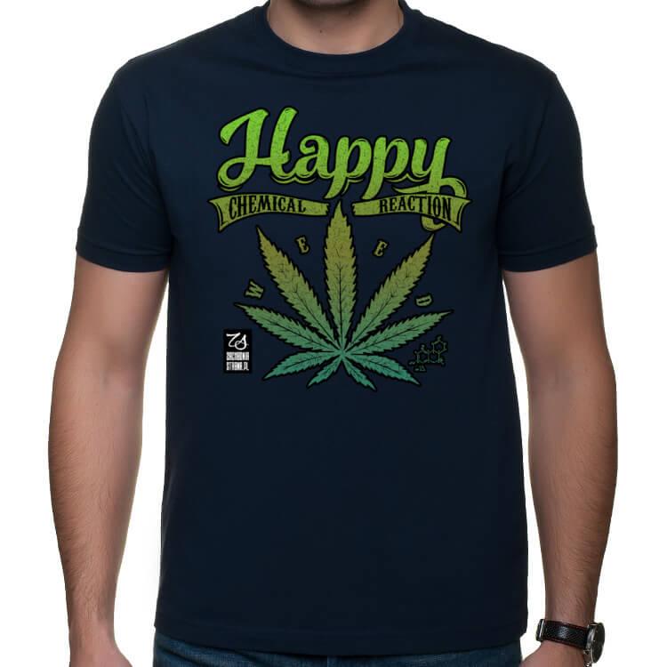 Męska koszulka Happy Weed