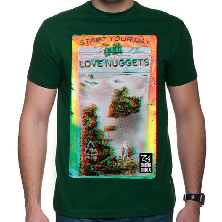 Męski t-shirt Zacznij dzień od pączka